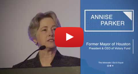 Former Houston Mayor Annise Parker: LGBT People Must Engage in Politics